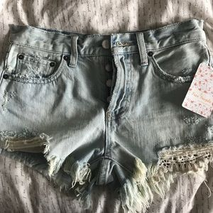 NWT Free People Jean Shorts